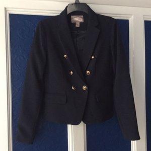 Love 21. Suit jacket blazer. Navy blue nautical